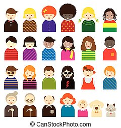 Various People Symbol Icons Family - People Occupation...