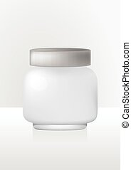 cosmetics cream jar