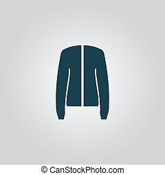 Jacket, vector - Jacket. Flat web icon, sign or button...