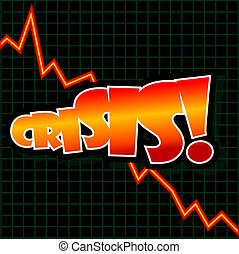 Crisis Graph - Abstract illustration of a downward graph...