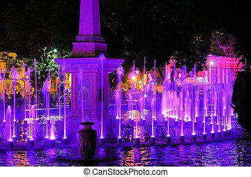Illuminated Colored Fountain Show, Philippines - Every...