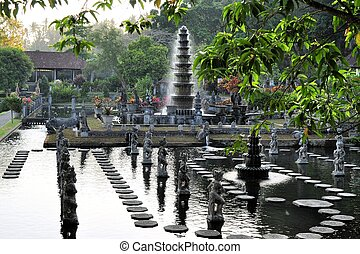 Water Palace of Tirta Gangga, Bali, Indonesia - Water Palace...