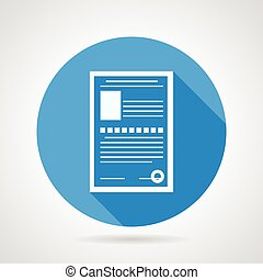 Flat vector icon for medical exam - Circle blue flat vector...
