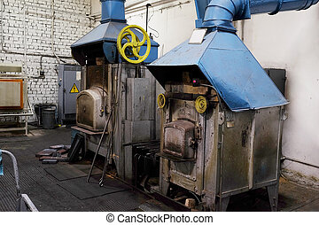 industrial furnace - The image of a industrial furnace