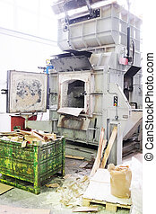 open-hearth furnace - The image of a industrial furnace