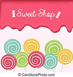 sweet shop design, vector illustration eps10 graphic