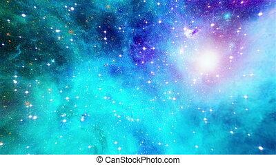 Flight through galaxy