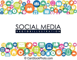social media - social media design, vector illustration...