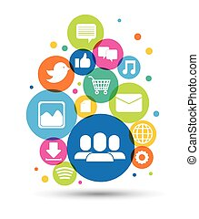 social media - social media design, vector illustration...