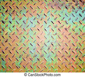 old diamond metal plate background
