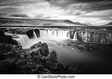 Godafoss waterfall - Long exposure image of Godafoss...