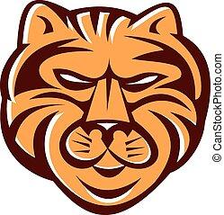 Tiger Head Front Retro