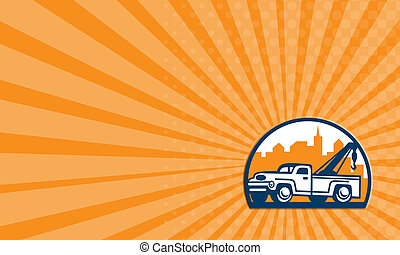 Business card Vintage Tow Truck Wrecker Retro