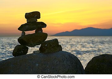 inukshuk - Inukshuk at Vancouver, Canada.
