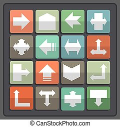 Arrow icons set - Arrow sign icon set Simple circle shape...