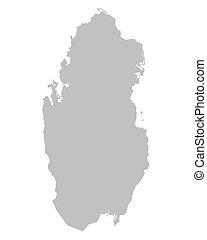 grey Qatar map