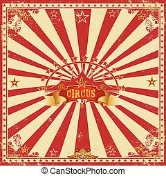 Square circus red card - A wonderful circus card with red...