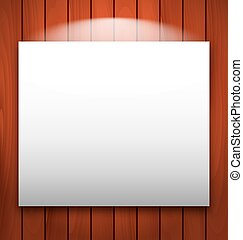 Empty frame on wooden with light