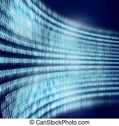 Binary code - Conceptual background image with binary code....
