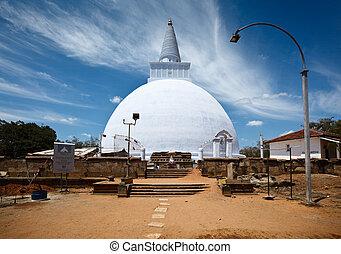 Mirisavatiya Dagoba stupa in Anuradhapura, Sri Lanka