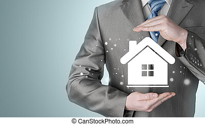 Home insurance concept