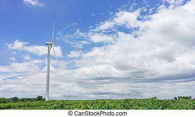 windmill - a windmill produce electric power with sky
