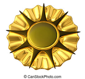 medalha, Ouro, -, isolado