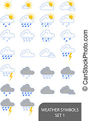 Weather Symbols - Set of weather symbols. Available in jpeg...