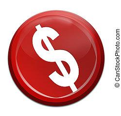 dolar icon - red dolar icon