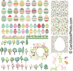 Big easter collection with eggs
