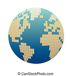Pixelized globe