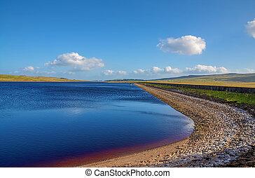 Loch Thom, Inverclyde, Scotland - Loch Thom reservoir near...