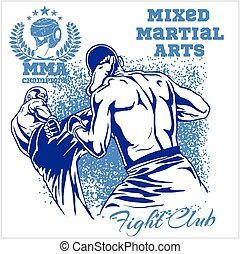 Match two fighters of martial mixed arts - Match two...
