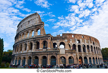 The Colosseum, ancient Rome most famous landmark