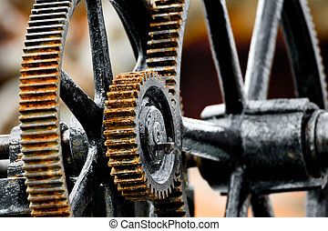 Rusty gear - Deail of an old piece of machinery