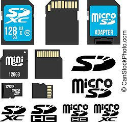 SD cards - SD, micro, mini SDHC and SDXC cards, adapter,...