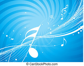 music theme - Musical wave line of musical notes