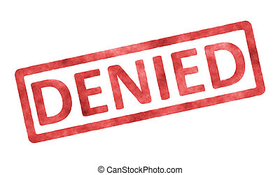 stamp denied - An image of a stamp with the text denied