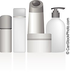 close up of beauty hygiene container on white background with cl