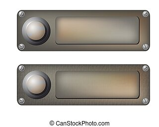 vector doorbells - Vector illustration of the various...