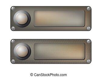 vector doorbells - Vector illustration of the various...