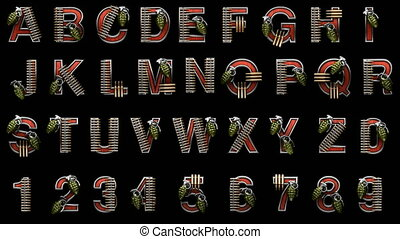 loop alpha matted military alphabet