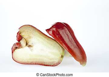 Rose apple - Two rose apple slice on a white background