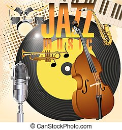 jazz - vector illustration of a jazz background music