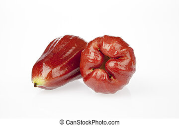Rose apple - Two rose apple on a white background.