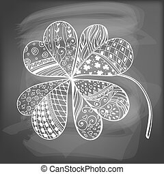 Clover - Four leaf, decorative clover filled with hand-...