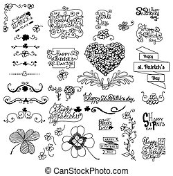 St Patrick s day set - St Patrick day set Collection of hand...