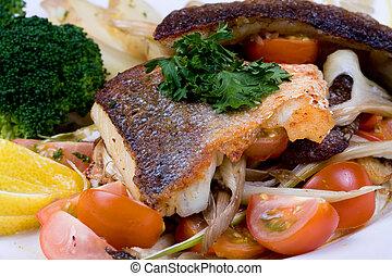 food Sea bass