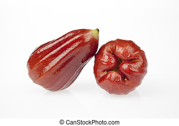 Rose apple - Two rose apple on a white background