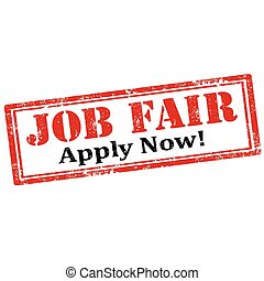 Job Fair-stamp - Grunge rubber stamp with text Job...